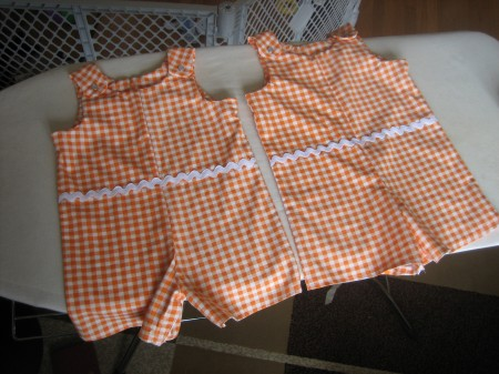 Orange checked jumpers