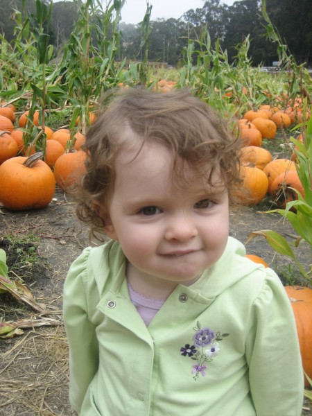 Izzy and the pumpkin farm